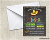 Fiesta Chalkboard Birthday Party Invitation