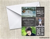 Graduation Photo Invitation Chalkboard