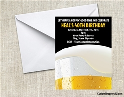 Beer Adult Birthday Party Invitation