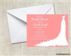 Bridal Shower Invitation - Wedding Gown (background color can be changed)