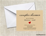 Bridal Shower Invitation - Couples Shower