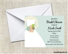 Bridal Shower Invitation - Wedding Gown Light Teal