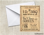 Wedding Engagement Party Invitation - I do BBQ