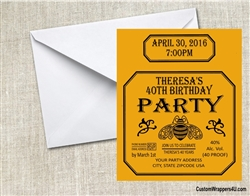 Patron Tequila Birthday Party Invitation