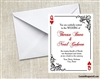 Poker Card Wedding Invitation