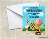 Peanuts Charlie Brown Birthday Party Invitation