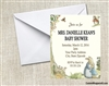 Peter Rabbit Beatrix Potter Baby Shower Invitation