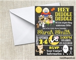 Humpty Dumpty Invitation Hey Diddle Diddle Baby Shower Invitation