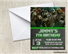 Teenage Mutant Ninja Turtles TMNT Birthday Party Invitation