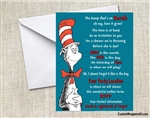 Dr. Seuss Cat in the Hat Baby Shower Invitation
