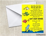 Dr. Seuss One Fish Two Fish Baby Shower Invitation