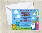 Adventure Time birthday party invitation