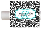 Wedding chapstick lip balm label damask