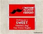 Mustache Valentine's Day Candy Wrapper