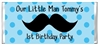 Birthday Candy Wrapper - Mustache Polka Dots