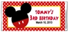 Birthday Candy Wrapper - Mouse Ears