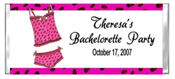 Bachelorette Party Candy Wrapper - Pink Leopard Lingerie