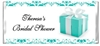 Bridal Showr Candy Wrapper - Tiffany Box