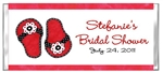Bridal Shower - Red Flip Flops (Beach Theme)