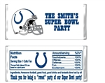 Indianapolis Colts Football Candy Wrapper Party Favor