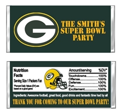 Green Bay Packers Football Candy Wrapper Party Favor