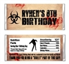 Birthday / Halloween Candy Wrapper - Zombie