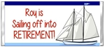 Retirement Candy Wrapper - Sailboat