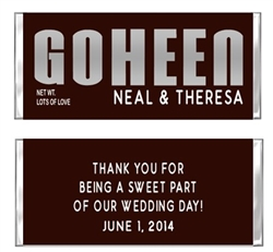 Wedding Candy Wrapper - Hershey Last Name