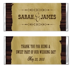 Wedding Candy Wrapper - Western Theme