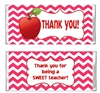 Teacher Appreciation Candy Wrapper - Apple