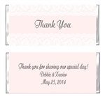 Baptism / First Communion / Confirmation Candy Wrapper - Lace