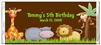 Birthday Candy Wrapper - Jungle Animals