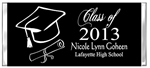 Graduation Candy Wrapper -  Cap & Diploma Silhouette (colors can be changed)