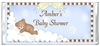 Baby Shower Candy Wrapper - Sleeping Bear on Cloud