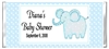 Baby Shower Candy Wrapper - Blue Elephant