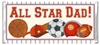 Father's Day Candy Wrapper - Allstar Dad