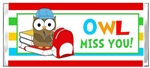 End of the School Year Candy Wrapper - Owl Miss You