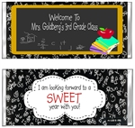 Back To School Candy Wrapper - Chalkboard