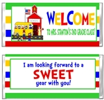 Back To School Candy Wrapper - School House