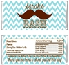 Baby Shower Candy Wrapper - Mustache Chevron
