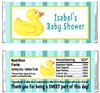 Baby Shower Candy Wrapper - Rubber Ducky