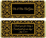Wedding / Anniversary Candy Wrapper - Damask
