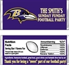 Baltimore Ravens Football Candy Wrapper Party Favor
