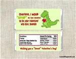 Alligator Valentine's Day Candy Wrapper