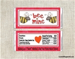 Bee Mine Valentine's Day Candy Wrapper