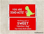 Dinosaur Valentine's Day Candy Wrapper