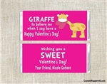 Giraffe Valentine's Day Wrapper