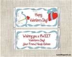 bow and arrow valentines day candy wrapper