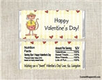 Boy Monkey Valentine's Day Candy Wrapper