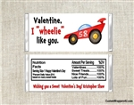 Race Car Valentine's Day Wrapper